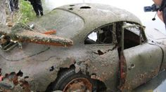Over on the Jalopy Journal's HAMB (that's Hokey-Ass Message Board, BTW) you can usually find tales of barn finds, re-purchased first cars and from-the-verge-of-death restoration projects. But every now and then there's a heartbreaking account of a car just too far gone for Bondo. If we're lucky, there's pictures.