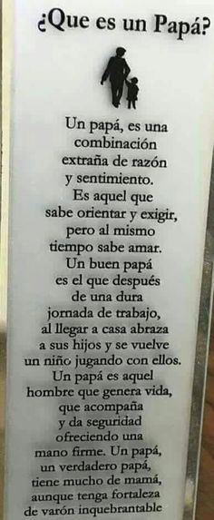 Day of father ♥ Spanish Inspirational Quotes, Spanish Quotes, Love Phrases, Motivational Phrases, Cool Words, Quote Of The Day, Fathers Day, Texts, Love Quotes