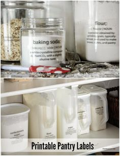 Best DIY Projects: Printable Pantry Labels