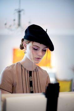 MUMA Hat Female Autumn Winter Stereotypes Berets Color : Black