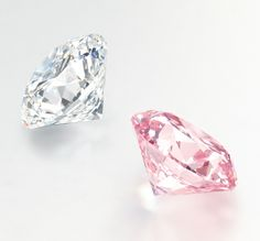 D round brilliant-cut diamond and Fancy Intense Pink (Type IIa) round brilliant-cut diamond to be auctioned at Christie's Hong Kong