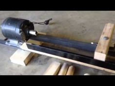 Build a Lathe out of Bicycle Parts and Other Junk 2 of 2 - YouTube
