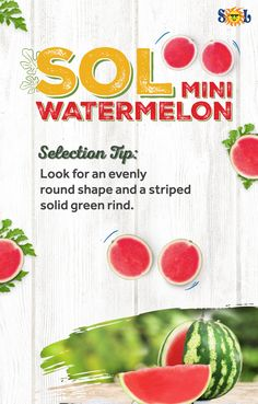 Pick up some minis next time you head to your favorite neighborhood market! Minis, Your Favorite, Watermelon, Shapes