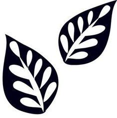 Making Stencils with Silhouette Designs Stencil Templates, Stencil Patterns, Stencil Designs, Leaf Template, Leaf Stencil, Stencil Diy, Making Stencils, Machine Silhouette Portrait, Embroidery Designs