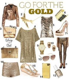GOLD SEQUINS OLYMPICS AND OTHER GILDED THINGS I LVOE