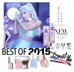 """""""Best of 2015: Hairstyle of the Year"""" by autumn-soul ❤ liked on Polyvore featuring косметика, Clarins, Christian Dior и Essie"""