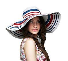 Genda 2Archer Sun Visor Straw Wide Brim Hat Colored Stripes Beach Sun Hat for Women (1 Pack ) Genda 2Archer http://www.amazon.com/dp/B01EFJZ5O2/ref=cm_sw_r_pi_dp_OYyfxb0WP6QHF