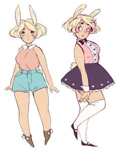 bunny girl started out as silly doodles but then I fell in love