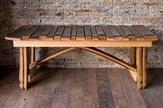 Wine Barrel Bench by alpinewinedesign on Etsy, $595.00 // Cabin