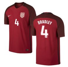 49659f67be8 MICHAEL BRADLEY 4 USMNT 2016 USA Men s Third Soccer Jersey - Red