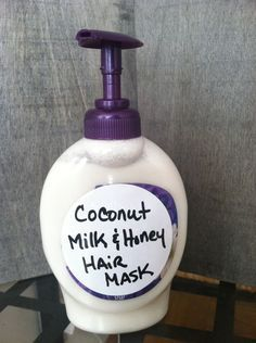 Easy coconut, milk and honey recipe for your hair.
