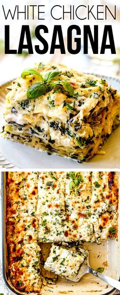 WORLD'S BEST WHITE CHICKEN LASAGNA (tips tricks make ahead freezer instructions)! It's rich creamy satisfying comforting flavorful and perfectly proportioned! Each and every bite is hot creamy cheesy saucy perfection. Italian Dishes, Italian Recipes, Easy Lasagna Recipe With Ricotta, Easy Chicken Lasagna Recipe, Best Lasagna Recipe, Pasta Dishes, Food Dishes, White Chicken Lasagna, Chicken Spinach Lasagna