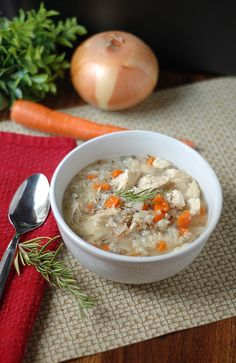 chicken wild rice soup.. just put this in the crockpot for marsh and I.. We love soups and I've been wanting to use the slow-cooker :)