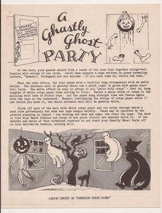 Vintage Halloween Party Ideas - A Ghastly Ghost Party
