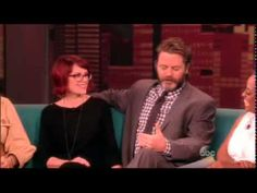 ▶ The View Megan Mullally & Nick Offerman - YouTube The Kings Of Summer, Nick Offerman, Steve Martin, Celebs, Celebrities, Movie Stars, Youtube, Celebrity, Youtubers