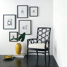Laura Kirar Dining Arm Chair  from McGuire Furn  use as a desk chair