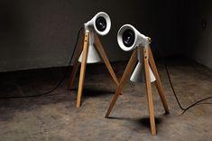 Moderne Lautsprecher aus Beton und Holz, minimalistische Wohndeko / minimalistic home decor: standing loudspeaker made of concrete made by Rehform via DaWanda.com