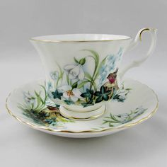 "Royal Albert ""Ivy Glade"" Country Life Series Tea Cup and Saucer, Vintage Bone China"