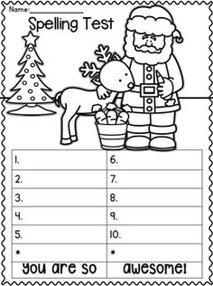 Spelling Test Freebies November Edition O  School Ideas