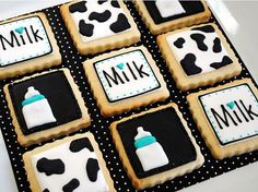 SIP and SEE MILKAHOLIC  baby shower  1 dozen 3 inch by batches, $27.00
