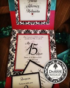Tri folder satinado para los 15 de mi preciosa PAOLA ALBORNOZ URDANETA... #invitacion  #misquincepaola  #misquince  #tarjetasdegranclase  #party  #fiesta