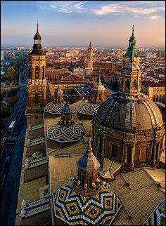 """Basilica Del Pilar, Zaragoza, Spain"" by Mabelle Imossi on flickr"