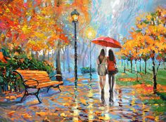The Breath Of Autumn Park Painting  © Dmitry Spiros (Cancun, Mexico)