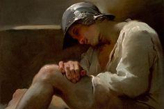 sculppp:   Ubaldo Gandolfi (1728-1781).A sleeping legionnaire