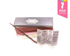 Any-size wand box  Harry Potter party with high by Printyca