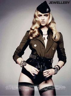 100 Combat-Ready Fashion Shoots - From Seductive Soldier Editorials to Androgynous Military Models (CLUSTER)
