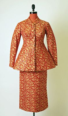Suit Charles James  Date: ca. 1957 Culture: American Medium: silk Accession Number: 1975.301.2a, b