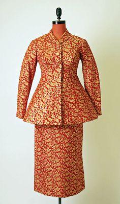 Suit, Charles James  (American, born Great Britain, 1906–1978)   Date: ca. 1957 Culture: American Medium: silk