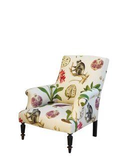 Sanderson: capuchins fabric chair,  sooo perfect !