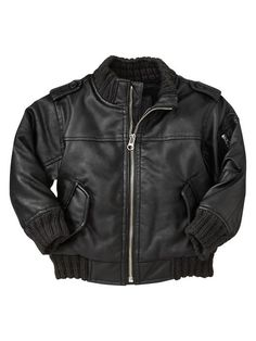 Buy Faux Leather Jacket w/ Hood (Infant) Boys Outerwear from ...