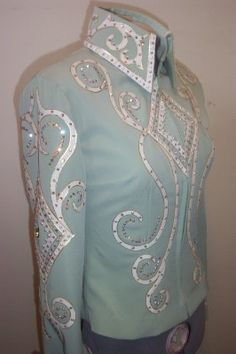 New shorter style jacket with rhinestones and pearls Showmanship sets - WINNING STITCHES