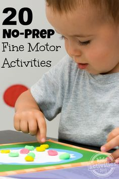 These fine motor skills activities are fun to do and they're easy to set up!