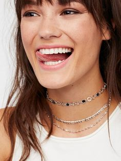 Pacific Stone Spike Choker   Cute layered choker featuring classic and  colorful, stone-adorned a2c7abe1637