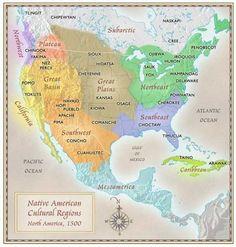 culture indigene dei nativi americani mappa da Paul Mirocha.