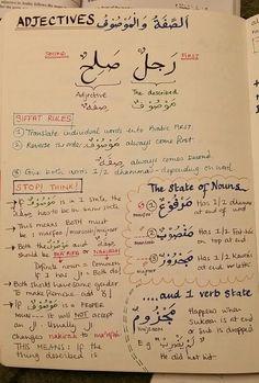 Studying Arabic grammar: Mausuf & Siffat.
