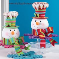 NEW Snowman Head Christmas tree topper design for 2014. From the new Candy Sprinkles collection by RAZ Imports. Pre-order today at www.shelleybhomeandholiday.com. Click on the photo for more information