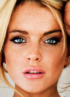 I love her freckles! #blondehairblueeyes