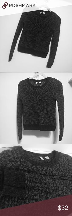 Anthropologie Moth Wool Sweater Dark grey and black wool sweater. Great condition. True to size Anthropologie Sweaters