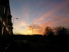 Sunrise on a winter morning