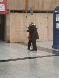 DOCTOR WHO - new pics of PETER CAPALDI and Jenna Coleman filming season 8