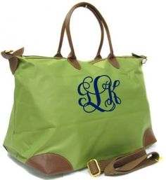 A million items to monogram on tinytulip, including this one.   Monogrammed Large Longchamp Style Tote Bag