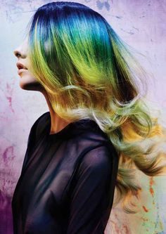 How to: Peacock ombre hair colour by colourist Richi Grisillo. Click here for the formula: https://www.rainbowhaircolour.com/peacock-ombre-hair-colour-how-to-guide/