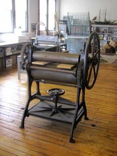 Antique Cast Iron Sturgis Etching Press [with Bookbinding (nipping) Press]; sold on eBay June 13, 2013 for $5800 (was located in New Haven, Connecticut)