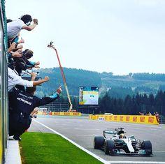 YESSSSS 💪 @lewishamilton WINS at #Spa!! #Mercedes #AMG #F1 #BelgianGP #Lewis #Hamilton #Cars #Motorsport