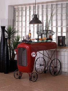 Massey Fergusson Tractor Home Bar. Add our Unique bar tables to your home or London Bar. Very cool bar design ideas by Smithers of Stamford.