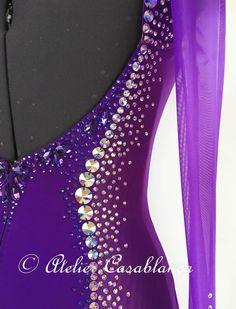 SK-JAG1 ドイツのチャンピオン着用!クリスティーネ・クライン・ファッション制作の大きな石びっしりの紫のスタンダードドレス(9号) | Atelier Casablanca -ダンスドレスの部屋- - 楽天ブログ
